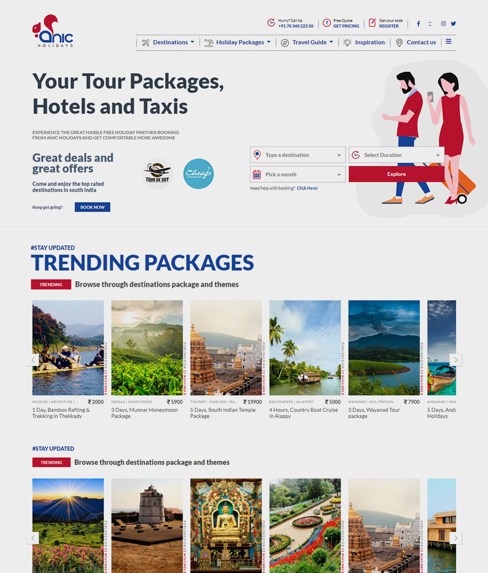 Web Application for Anic Holidays